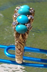 Turquoise ring metal detecting