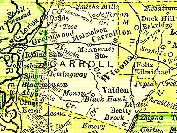 The Lost Treasure of Carroll County Mississippi