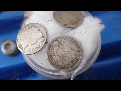 first SEATED DIME of the year!  Metal Detecting with Gonehunting for History