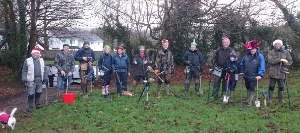 Our club Christmas charity fun dig.