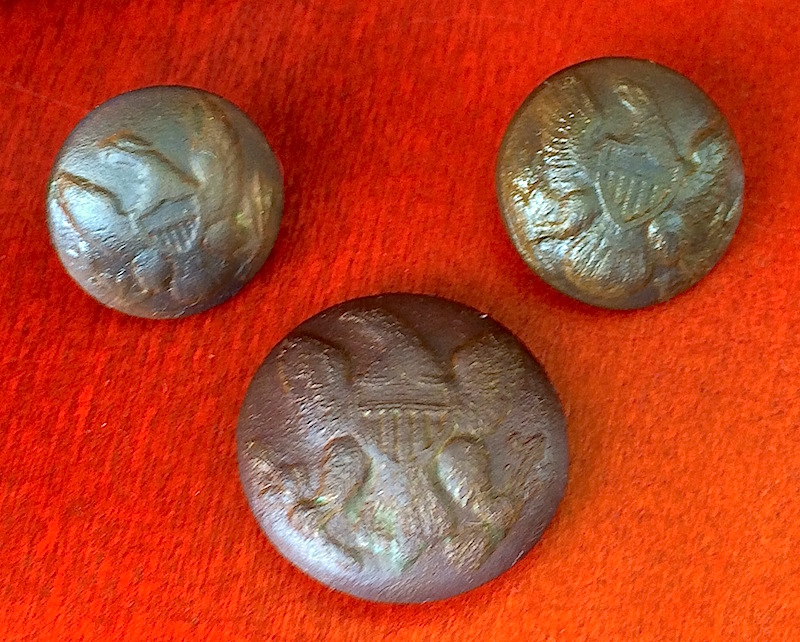 100 FINDS IN 100 DAYS: #68 Civil War Eagle Button Trifecta