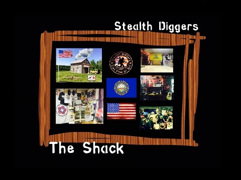 #93 The shack ~ tour of stealth shack , fund raiser update metal detecting NH