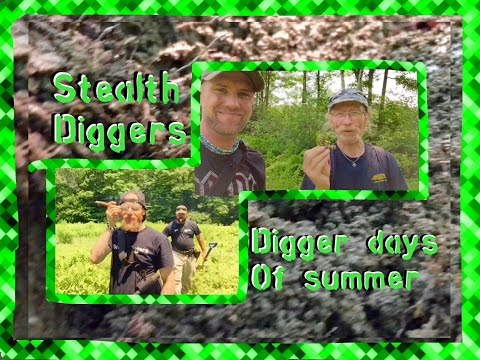 #94 Digger days of summer – Cellar holes in NH Metal detecting relics coins
