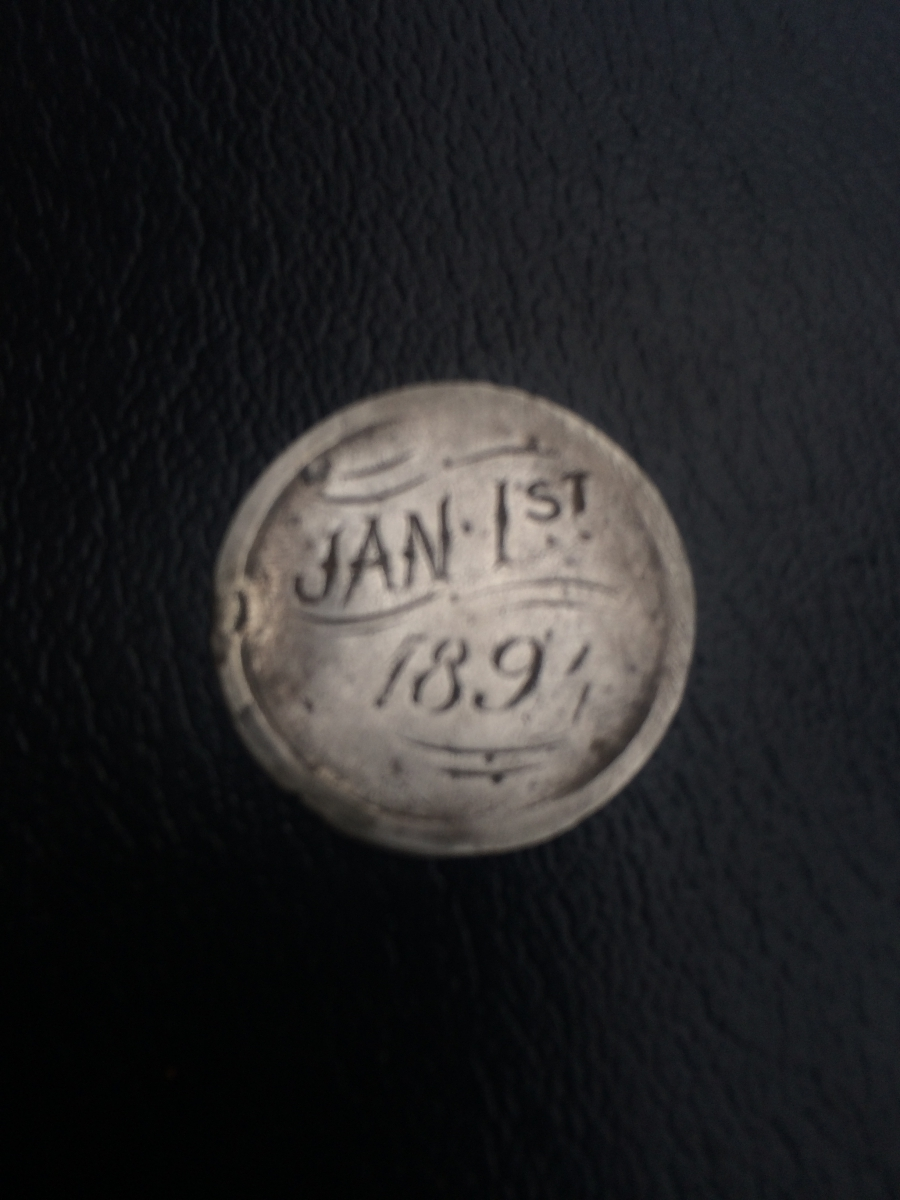 100 FINDS IN 100 DAYS: #63 Love Token Dated January 1, 1894