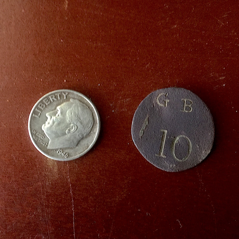 100 FINDS IN 100 DAYS: #51 Unidentified 1800s Trade Token