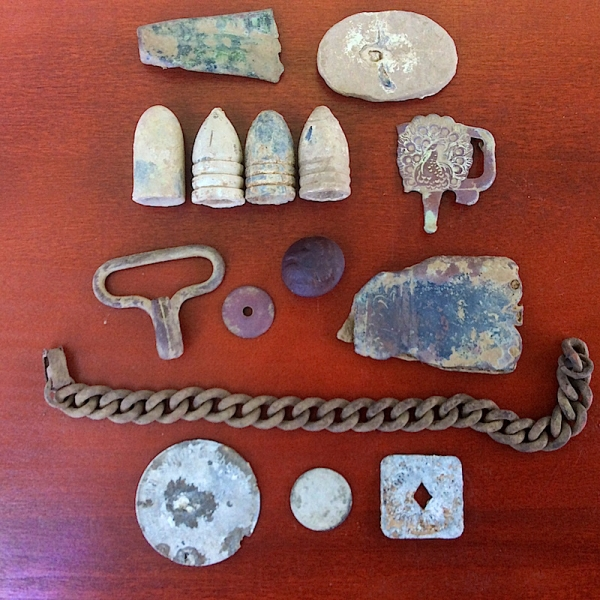 A few other relics from the battle site.