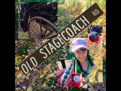 Metal detecting Old Stagecoach Road!  Beautiful jewelry, SILVER, coins, relics!