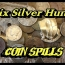 6 SILVER metal detecting hunt with coin spills