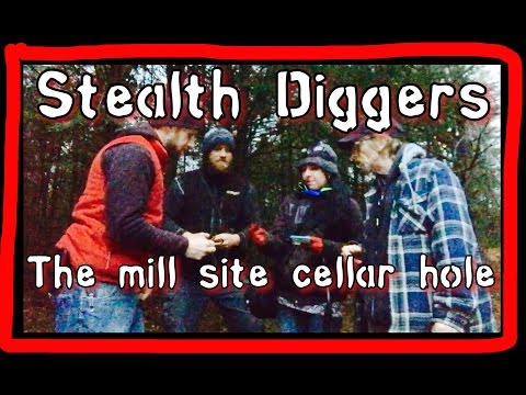 #131 The mill site cellar hole – Garrett ATGOLD metal detecting heavy iron coins