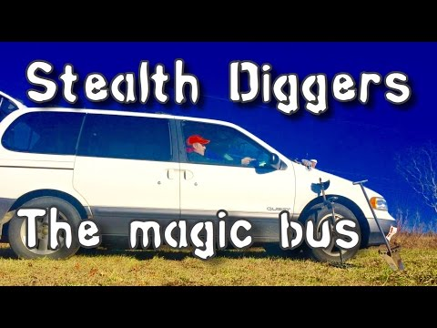#130 The magic bus – group dig metal detecting colonial farm fields NH Coins