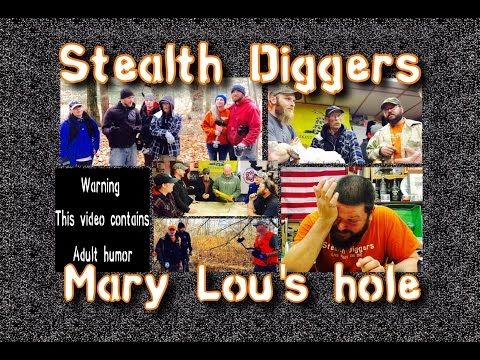 #129 Mary Lou's hole – Metal detecting NH cellar holes Relics coins Garrett ATGOLD