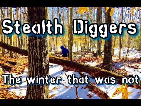 #134 The winter that was not – Metal detecting NH Cellar hole XP Deus ATGOLD