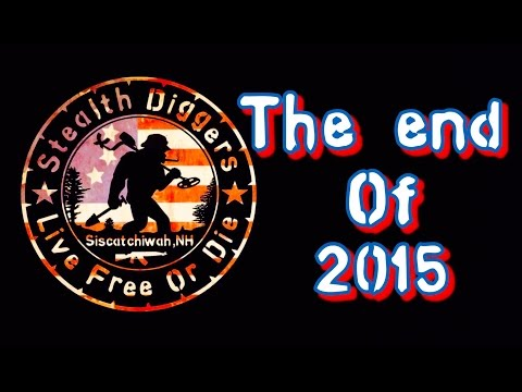 #133 The end of 2015 – Metal detecting NH Silver coins Cellar hole Garrett ATGOLD XP Deus