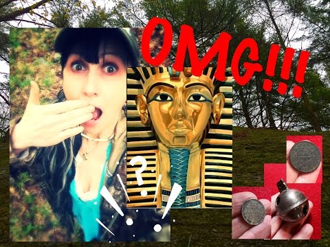 We found a pharaoh tomb metal detecting!!  Plus, old coins & relics! MX Sport