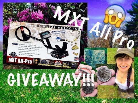 METAL DETECTOR GIVEAWAY free MXT All Pro + EPIC metal detecting for coins!!!