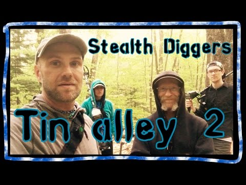 #147 Tin alley 2 – metal detecting loaded virgin NH cellar hole coins relics garrett ATGOLD Xp Deus