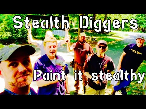#146 Paint it stealthy – Cellar hole metal detecting NH Garrett ATGOLD Xp Deus & Eds sign