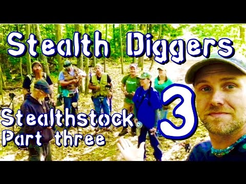 #152 Stealthstock Part 3 metal detecting colonial NH cellar holes group dig