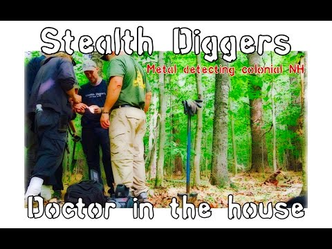 #156 Doctor in the house – coin spill metal detecting NH Cellar hole Indian head