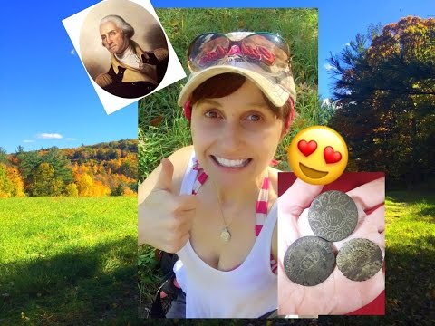 EPIC metal detecting! George Washington button, silver & copper coins!