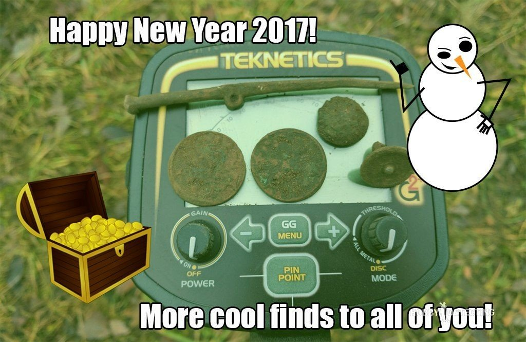 Happy New Year 2017! Wish you more finds in upcoming season!