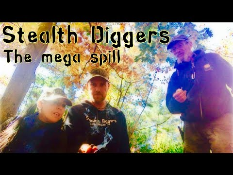 #170 The mega spill – huge button & relic spill military buttons metal detecting NH cellar hole