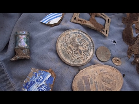 Groundhog Burrow Metal Detecting