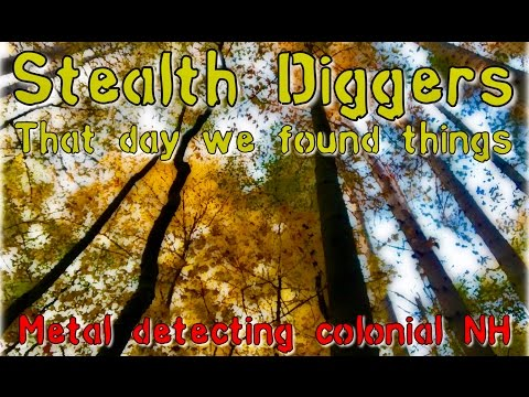 #173 that day we found things – Metal detecting Colonial NH Cellar hole ATGOLD XP Deus