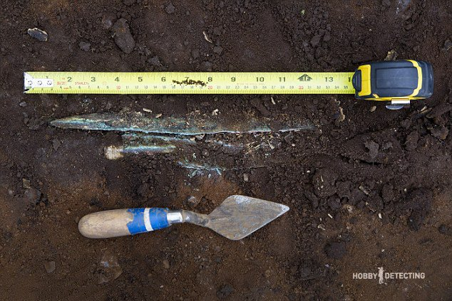 Gold Spear Found On Football Field (Unusual Find, Photos +)