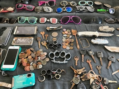 River Finds! – Rings, Coins, Knives and Sunglasses!