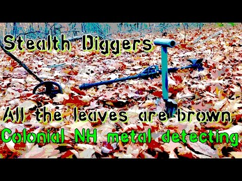 #177 All the leaves are brown – Metal detecting NH Rare american Revolution find XP Deus