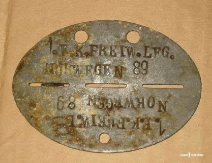 German WW2 Dog Tags (Identifying Finds, Photos+)
