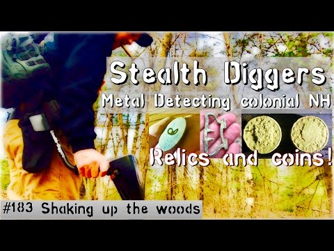 #183 Shaking up the woods – Large cents & relic hunting metal detecting woods of NH