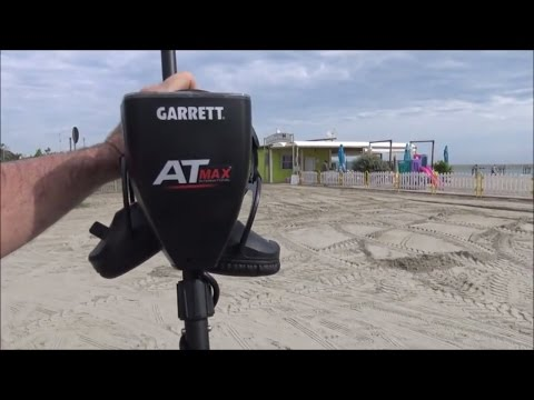 "Metal Detecting: Beach Testing The New Garrett ""AT MAX"" Metal Dectetor"