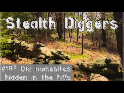 #187 Old homesites hidden in the hills – metal detecting long abandoned homes NH
