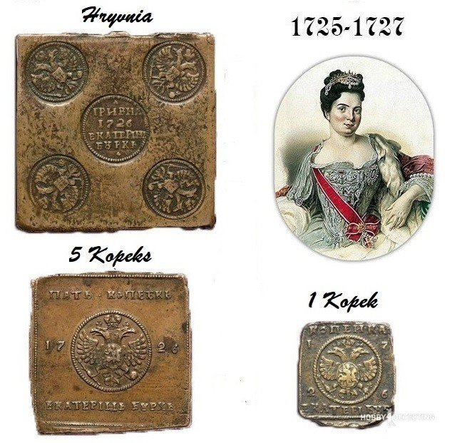 Russian Square Coins Of Catherine I (Identifying Finds +)