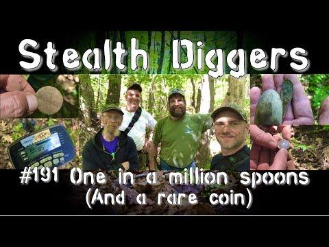 #191 One in a million spoons – Coins Relics colonial & modern Metal detecting New england