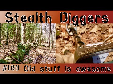 #189 Old stuff is awesome – Metal detecting for old items of the past 1700's 1800's Garrett ATGOLD