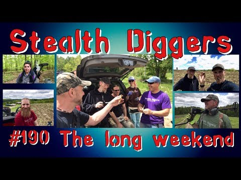 #190 The long weekend – Fields & cellar holes metal detecting New England treasure