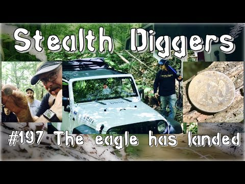 #197 The eagle has landed – Coins relics eagles silver fun history cellar hole metal detecting