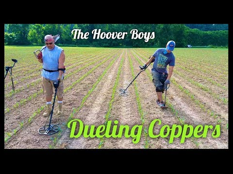 Metal detecting a planted corn field #131 Dueling Coppers