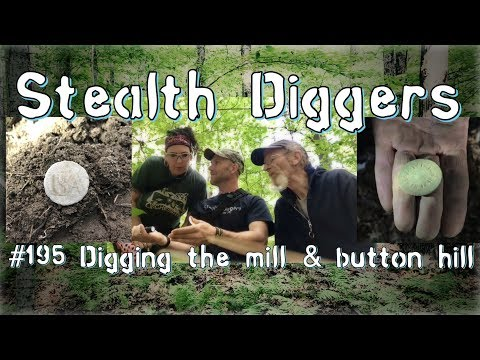 #195 Digging the mill & button hill – Military buttons found metal detecting USA continental Army
