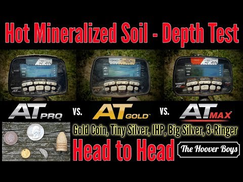 Garrett AT Max vs AT Pro & AT Gold  – Hot Mineralized Soil Deep Depth Test Review