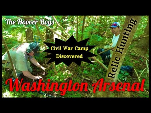 Undocumented Civil War Camp Discovered Metal Detecting #133 Washington Arsenal