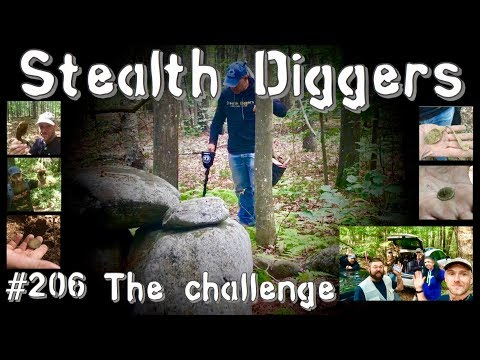 #206 The challenge – NH Metal detecting abandoned farm digging everything ATGOLD ATPRO