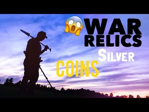 We found war relics, coins, & silver with our metal detector!
