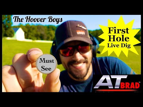 Must See First Hole Live Dig Metal Detecting