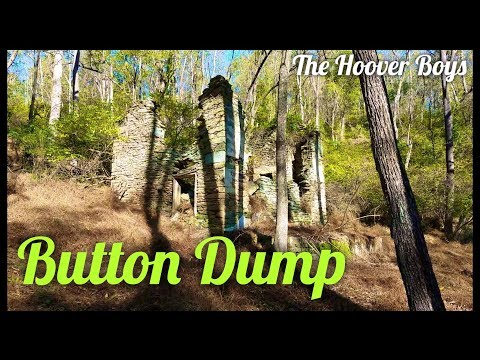Exploring foundations in the woods & 1800's paper mill | Button Dump