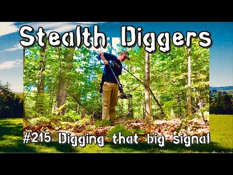 Digging that big signal #215 Metal detecting relic hunting dirt fishing NH cellar holes