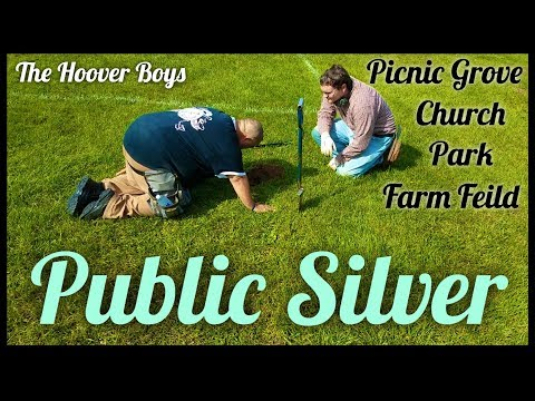 Metal Detecting a Church, Picnic Gove, Park, and Farm Field for Old Coins